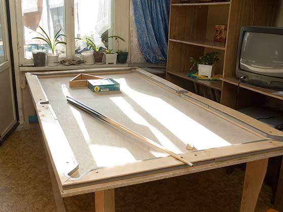 Как самого сделать бильярдный стол 88